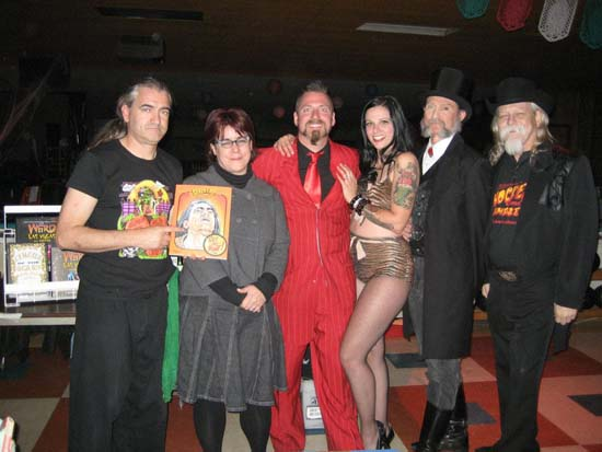 Zamora the Torture King, Kathleen Kotcher, Tyler Fyre, Jill Fleet, James Taylor and Chris McDaniel.
